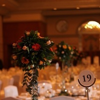 Reception, Flowers & Decor, orange, Centerpieces, Flowers, Centerpiece, Table
