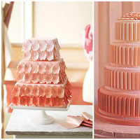 Cakes, pink, cake, Ombre