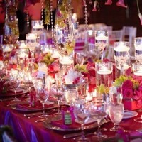 Reception, Flowers & Decor, pink, purple, Flowers, Table
