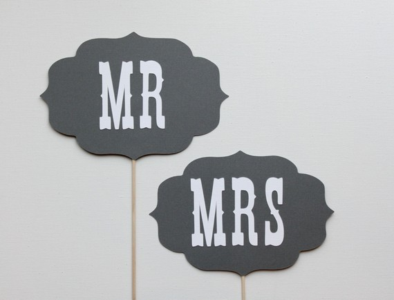 Reception, Flowers & Decor, Fun, Photobooth, Prop, Mrmrs
