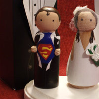 Reception, Flowers & Decor, Cakes, cake, Topper, Superman-themed, Superman