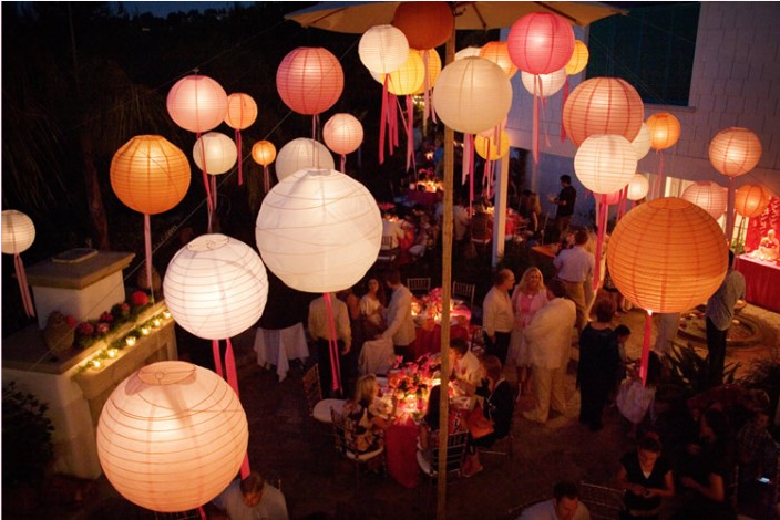 Reception, Flowers & Decor, Lanterns