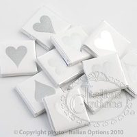 Favors & Gifts, white, silver, Favors