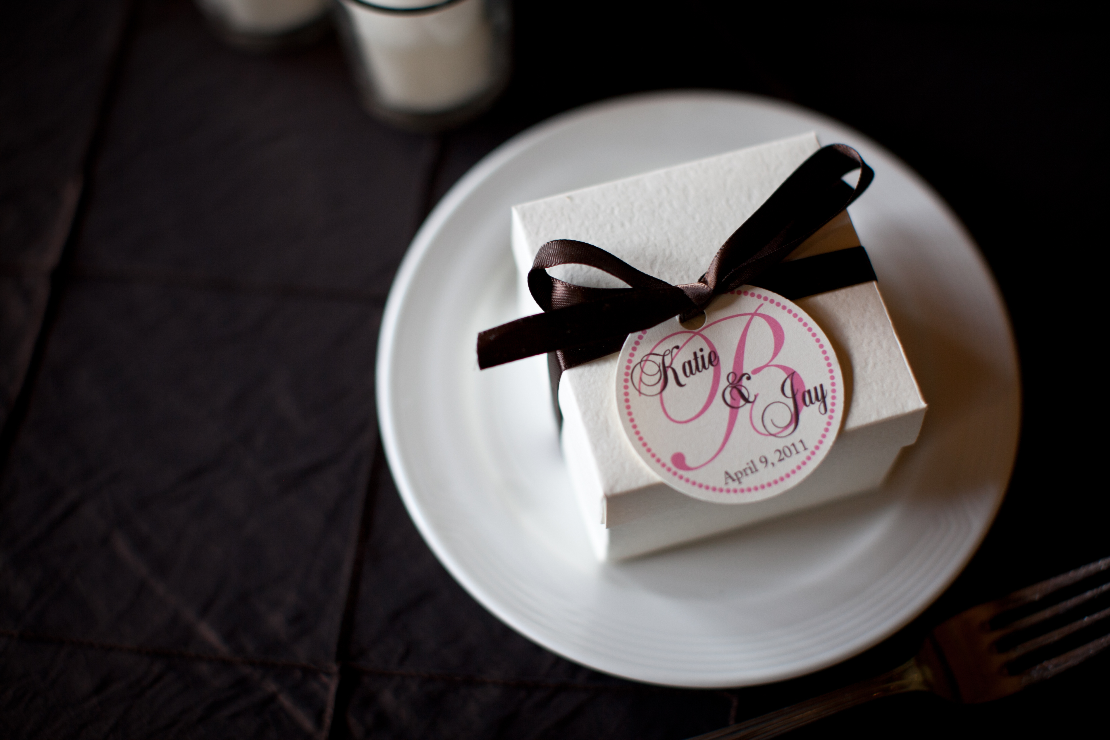Favors & Gifts, pink, brown, favor, Tags