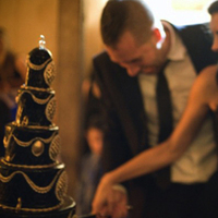 Wedding Dresses, Fashion, black, dress, Cake cutting