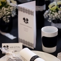 Reception, Flowers & Decor, white, black, Table