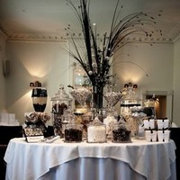 white, black, Candy buffet
