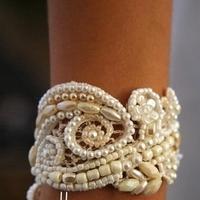 Jewelry, Bracelets, Lace, Pearls, Bracelet