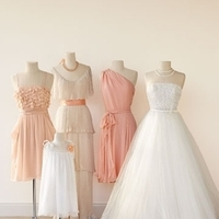 Bridesmaids, Bridesmaids Dresses, Wedding Dresses, Fashion, white, orange, dress, Peach