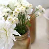 DIY, Flowers & Decor, white, Flowers, Jars, Paint