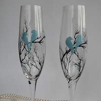 Favors & Gifts, blue, Favors, Bird, Branch, On