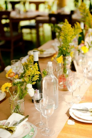 Flowers & Decor, Flowers, Table, Runner, Vases