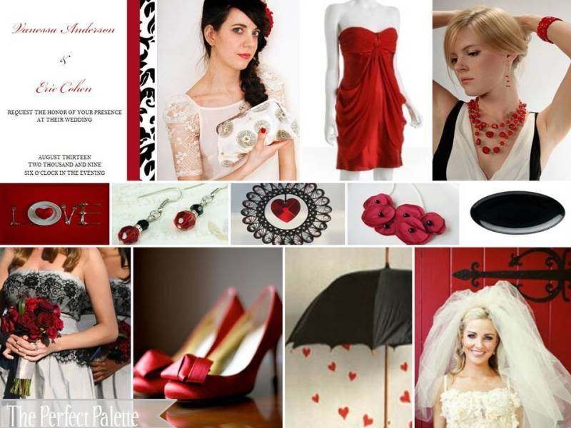 Jewelry, red, black, Color, Hearts