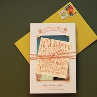 Stationery, invitation, Invitations, Twine