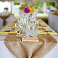 DIY, Table, Burlap, Fabric, Runner