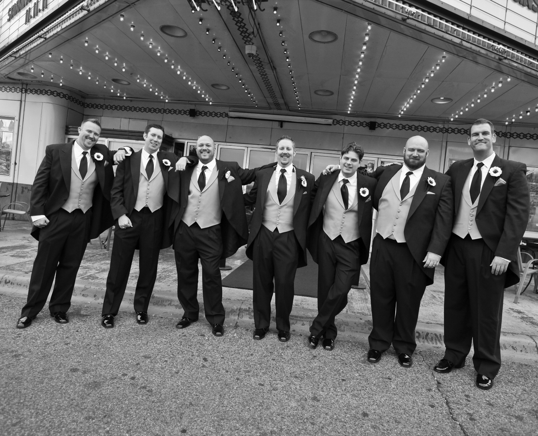 Ceremony, Flowers & Decor, Groomsmen, Dallas, Theater wedding, Lakewood theater