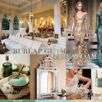 green, gold, Inspiration board