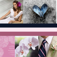 pink, blue, Beach, Tropical, Inspiration board, Navy, Collage
