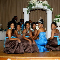 Bridesmaids, Bridesmaids Dresses, Fashion, blue, brown