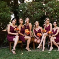 Bridesmaids, Bridesmaids Dresses, Fashion, burgundy, Party, Bridal, Nicole ryan