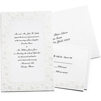 Flowers & Decor, Stationery, white, black, Invitations, Flower, Invites, Pearl