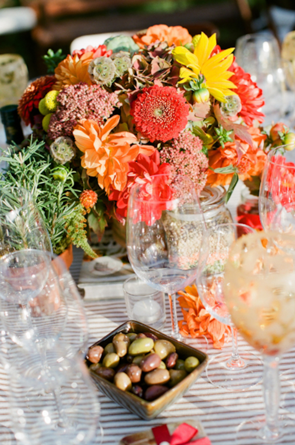 yellow, red, Centerpiece, Nicole ryan