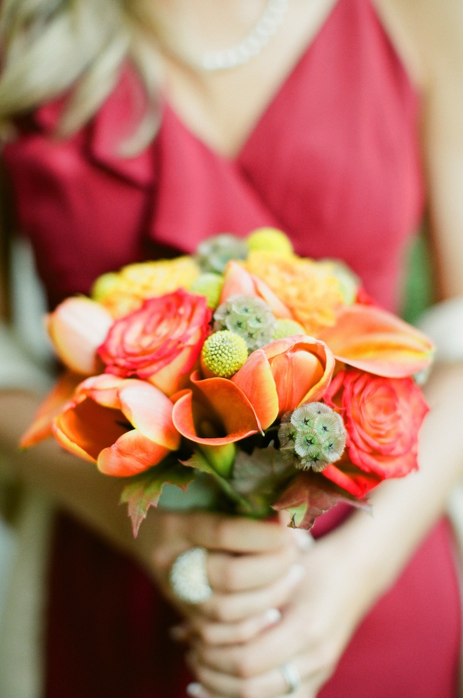 orange, red, Fall, Bouquet, Bridesmaid, Nicole ryan