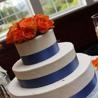 Cakes, orange, blue, cake