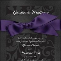 Stationery, purple, black, Invitations, Bridal, Davids
