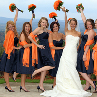 Bridesmaids, Bridesmaids Dresses, Fashion, orange, blue