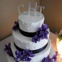 Cakes, purple, black, cake
