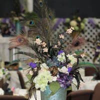 Ceremony, Reception, Flowers & Decor, white, purple, blue, green, brown, Ceremony Flowers, Centerpieces, Flowers, Centerpiece