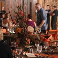 Reception, Flowers & Decor, orange, green