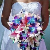 Flowers & Decor, pink, purple, blue, green, Bride Bouquets, Flowers, Bouquet