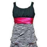 pink, black, Flower girl, Zebra print