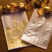 Favors & Gifts, Paper, white, silver, gold, favor, Favors, Candy, Buffet, Bar, Bag, Embossed, Wax, Glassine