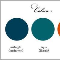 orange, blue