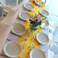 Reception, Flowers & Decor, white, purple, gold