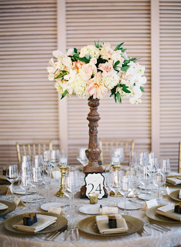 Roses, Centerpiece, Table, Hydrangea, Marbella frank