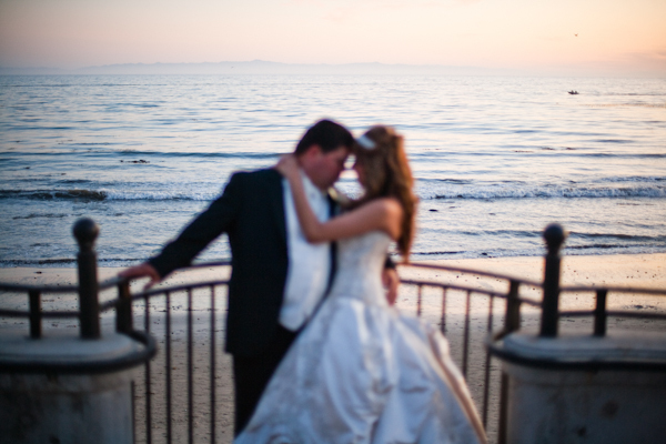 Bride, Groom, Kiss, Water, Sunset, Marbella frank