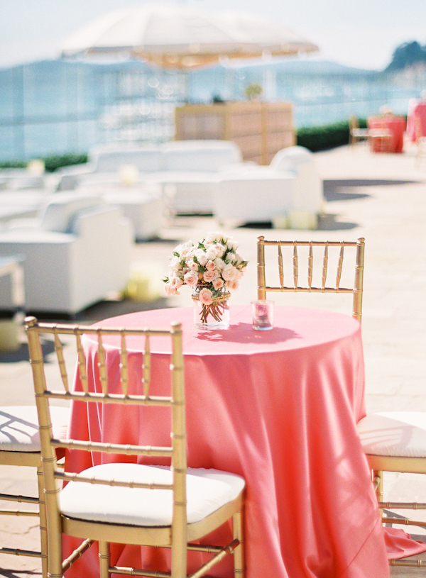 Reception, Flowers & Decor, gold, Beach, Tables & Seating, Beach Wedding Flowers & Decor, Table, Chairs, Coral, Marbella frank