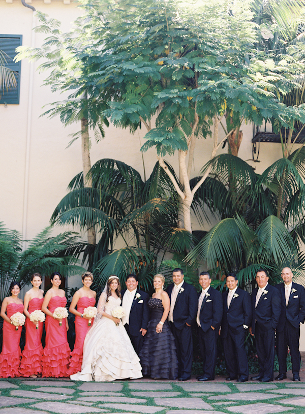 gold, Bridal party, Coral, Marbella frank