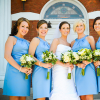 Ceremony, Flowers & Decor, Bridesmaids, Bridesmaids Dresses, Fashion, blue