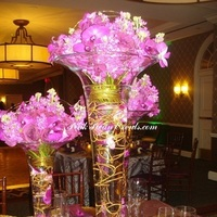 Reception, Flowers & Decor, white, pink, red, purple