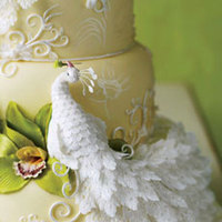 Cakes, white, blue, green, silver, cake, Inspiration board