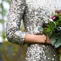 purple, green, silver, Bouquet, Succulent, Jessica erika, Sparkles