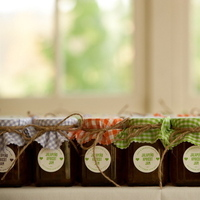 Favors & Gifts, red, green, Favors, Jam, Gingham, Jessica erika