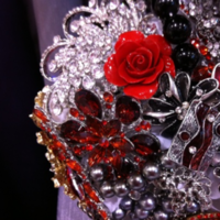 Flowers & Decor, Jewelry, yellow, pink, red, purple, blue, brown, black, silver, gold, Brooches, Flowers, Bouquets, Brooch