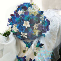 Flowers & Decor, white, purple, blue, green, Flowers