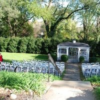 white, Ceremony, blue, orange, Ribbon, Chairs, Flowers & Decor, Tables & Seating